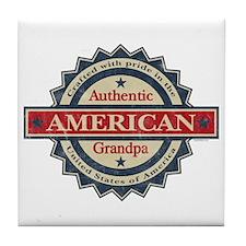 Authentic American Grandpa Tile Coaster