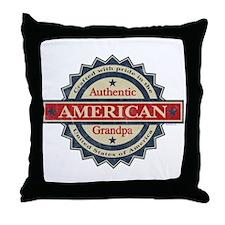 Authentic American Grandpa Throw Pillow
