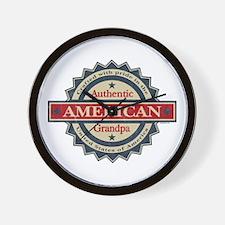 Authentic American Grandpa Wall Clock