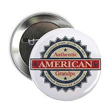 """Authentic American Grandpa 2.25"""" Button"""