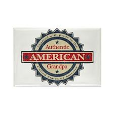 Authentic American Grandpa Rectangle Magnet