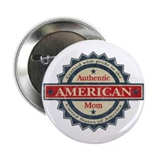 """Authentic American Mom 2.25"""" Button"""