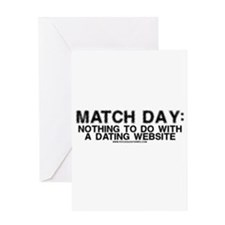 Match Day Dating Website Greeting Card