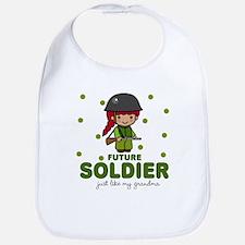 Future Soldier Like Grandma Baby Infant Bib