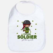 Future Soldier Like Uncle Baby Infant Toddler Bib