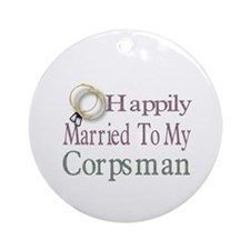 happily married to Ornament (Round)