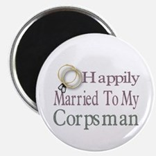 """happily married to 2.25"""" Magnet (100 pack)"""