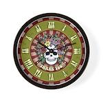 60's Flower Hair Wall Clock