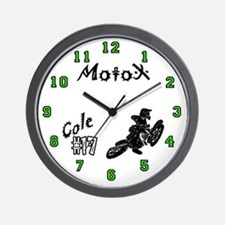 Cole' Motocross Wall Clock