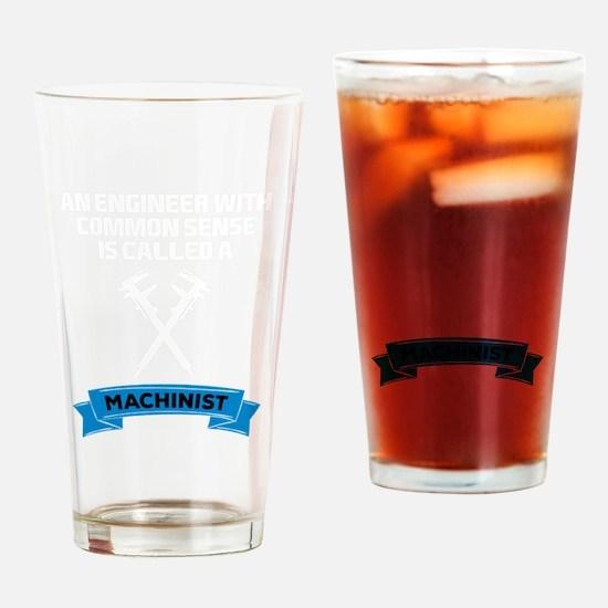 Unique Machinist Drinking Glass