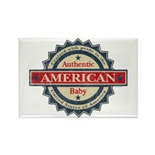 Authentic American Baby Rectangle Magnet