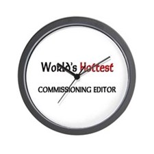 World's Hottest Commissioning Editor Wall Clock