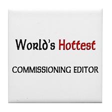 World's Hottest Commissioning Editor Tile Coaster