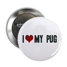 "I Heart My Pug 2.25"" Button"
