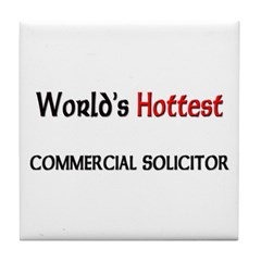 World's Hottest Commercial Solicitor Tile Coaster
