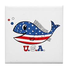 American Fishy Tile Coaster