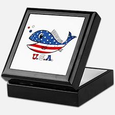 American Fishy Keepsake Box