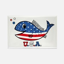 American Fishy Rectangle Magnet