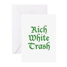 Rich White Trash Greeting Cards (Pk of 20)