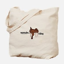 wannabe...riding (western) Tote Bag