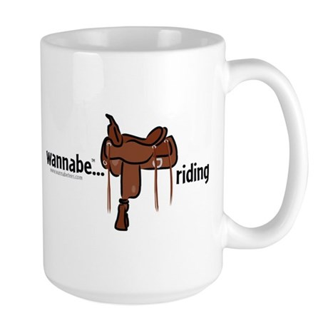 wannabe...riding (western) Large Mug