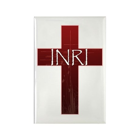 INRI Cross Rectangle Magnet (100 pack)