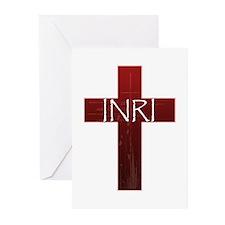 INRI Cross Greeting Cards (Pk of 10)