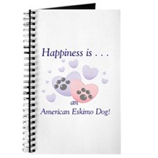 Happiness is...an American Eskimo Dog Journal