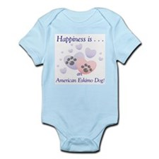 Happiness is...an American Eskimo Dog Infant Creep