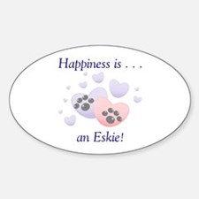 Happiness is...an Eskie Oval Decal
