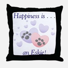 Happiness is...an Eskie Throw Pillow