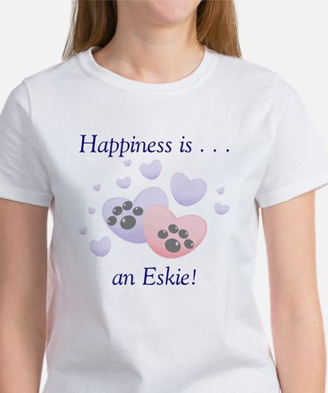 Happiness is...an Eskie Women's T-Shirt