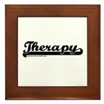 Softball Therapy Framed Tile