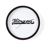 Softball Therapy Wall Clock