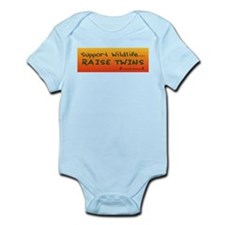 Support Wildlife - Raise Twin Infant Creeper