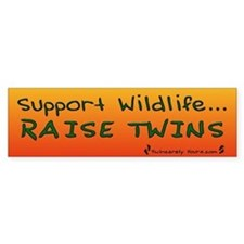 Support Wildlife - Raise Twin Bumper Bumper Stickers