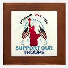Freedom Isn't Free Framed Tile