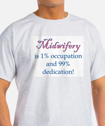 Midwifery/Occupation Ash Grey T-Shirt