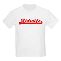 Midwife (red) Kids T-Shirt