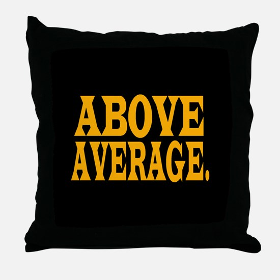 MN ABOVE AVERAGE Throw Pillow