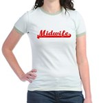 Midwife (red) Jr. Ringer T-Shirt