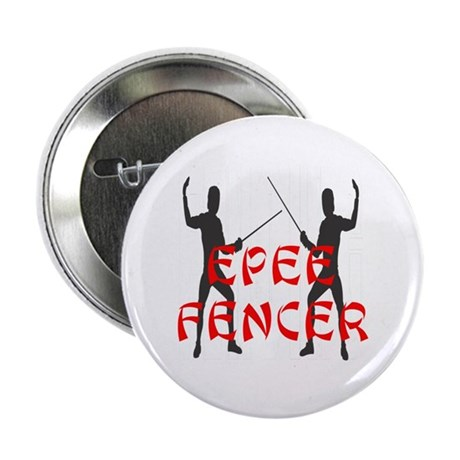 """Epee Fencer 2.25"""" Button"""