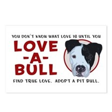 Love A Bull Postcards (Package of 8)