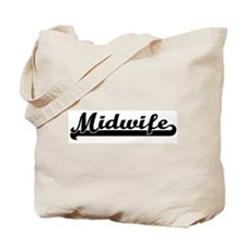 Midwife (black) Tote Bag