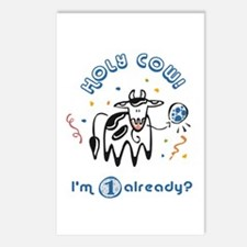 """""""Holy Cow! I'm 1 already?"""" Postcards (Package of 8"""