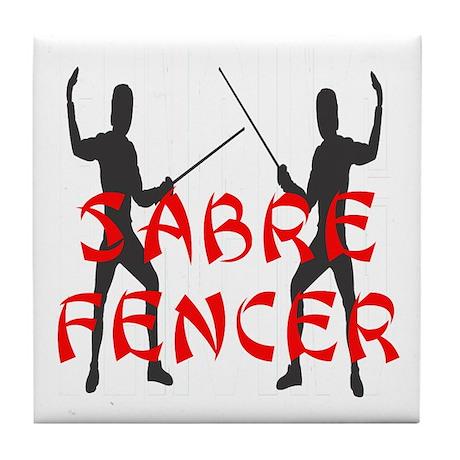 Sabre Fencer Tile Coaster