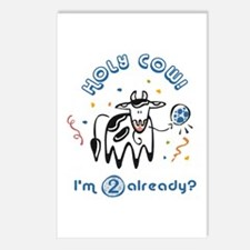 """""""Holy Cow! I'm 2 already?"""" Postcards (Package of 8"""