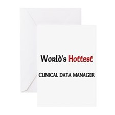 World's Hottest Clinical Data Manager Greeting Car