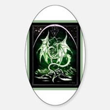 Dragon Art 3 Oval Decal