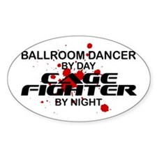 Ballroom Dancer Cge Ftr by Nght Oval Decal